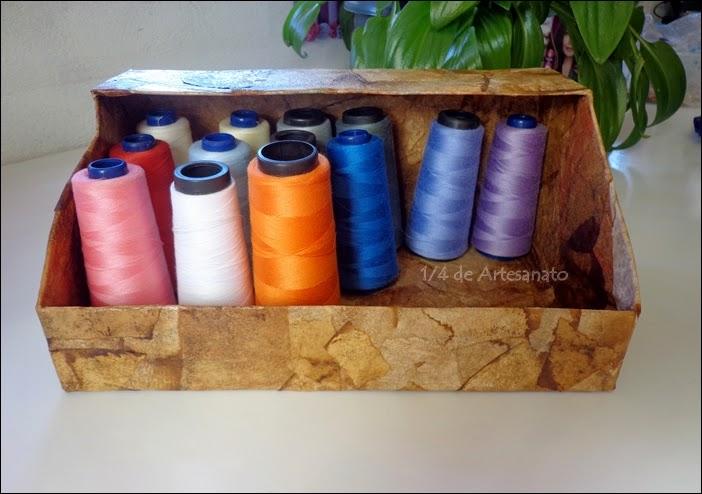 porta linhas reciclado com filtros de café