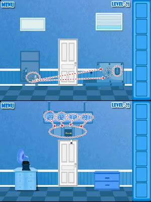 Escape from the Blue World Level 21 22 23 24 Solution
