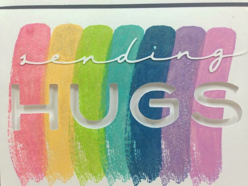 Cricut Sending Hugs card closeup
