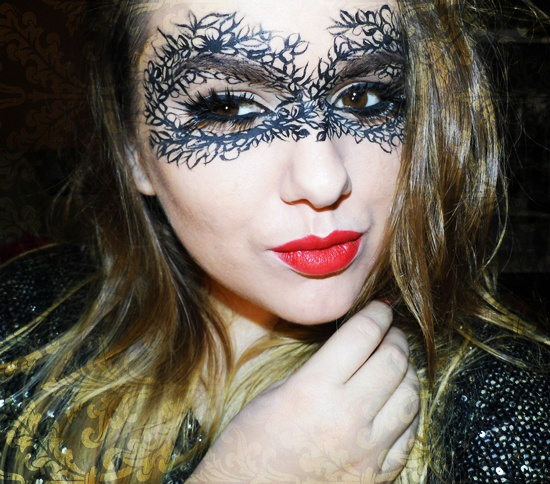 Halloween Make-up: Lace Mask | Anda Zelenca | Blog