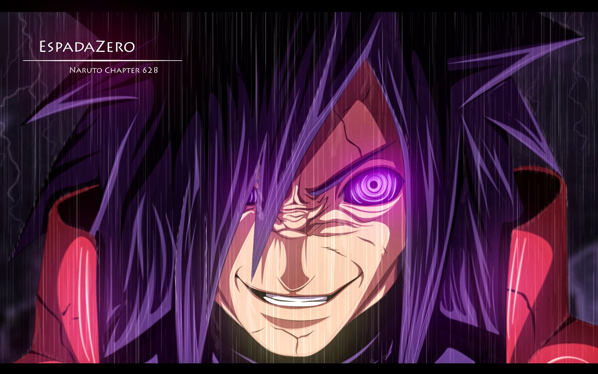 Madara Rinnegan Eyes Grin Smile H09 HD Wallpaper