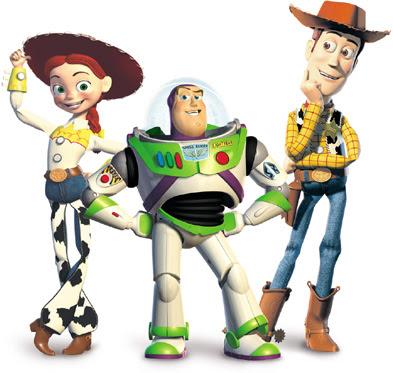 Personajes de Toy Story Buzz Woody y Jessie