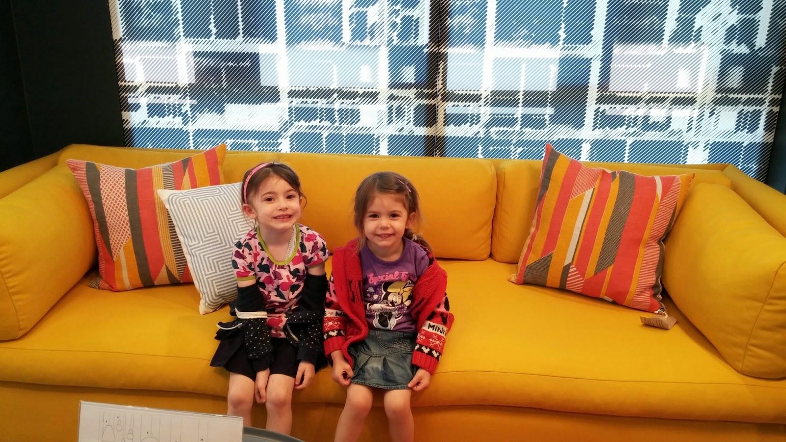 girls on sofa