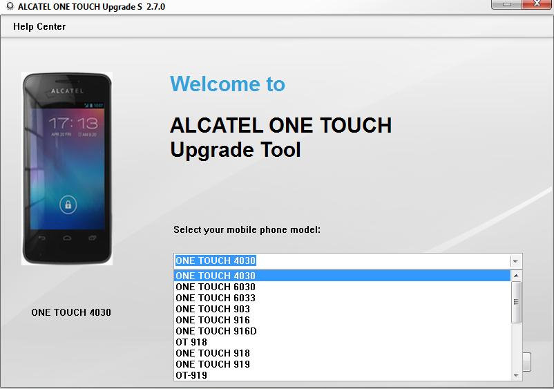 Alcatel one touch как сделать сброс
