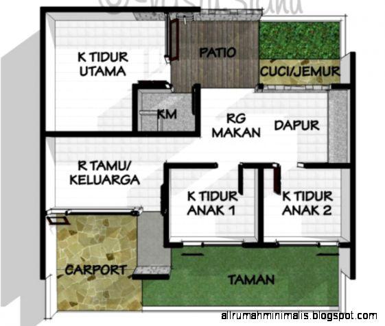 Contoh Denah Rumah Sederhana amp Unik  Aneka Desain Interior Rumah