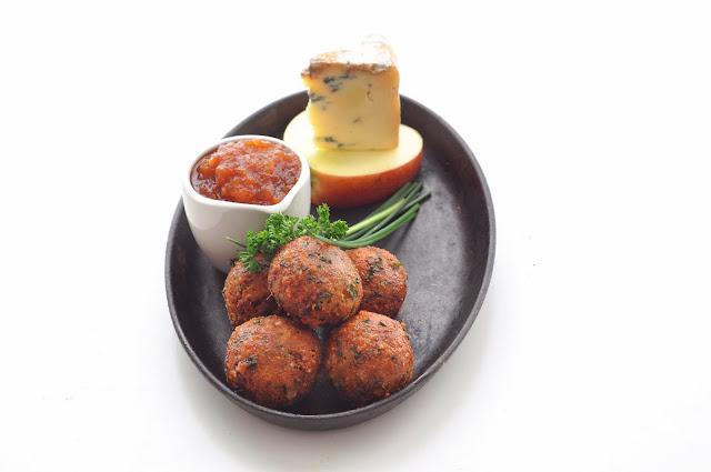Deep Fried Stilton with Apple Chilli Dip ~ Simple Food