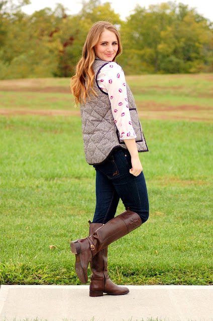 outfit ideas for the herringbone vest