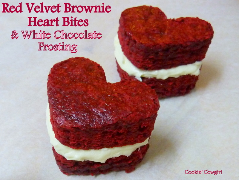Cookin' Cowgirl: Red Velvet Brownie Heart Bites with White Chocolate ...