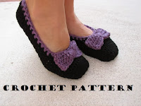 sapatilhas de crochê