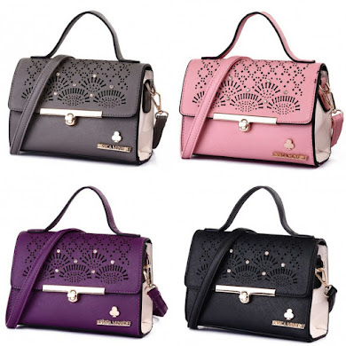 JESSICA MINKOFF BAG - BLACK , GREY , PINK , PURPLE