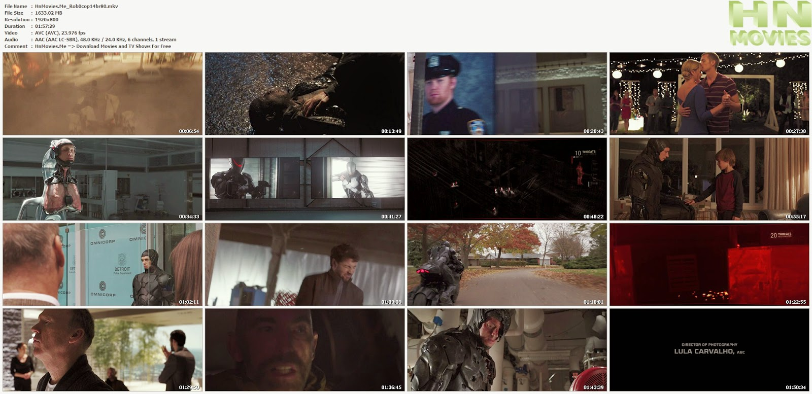 Robocop (2014) BluRay 1080p 5.1CH BRRip 1.6GB