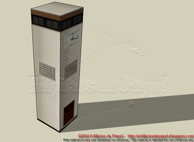 Papermodel num 1548 - Edificios de Papel (C)2015