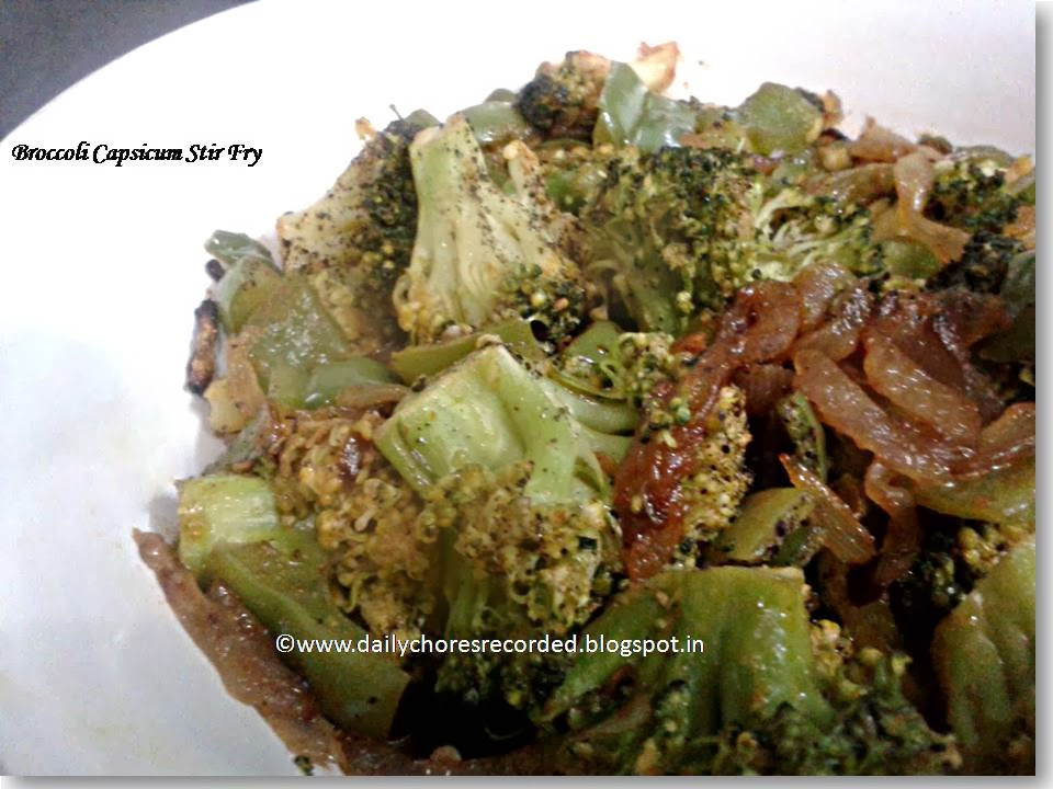 Broccoli Capsicum Stir Fry