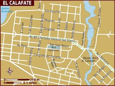 El Calafate Mapa de Político