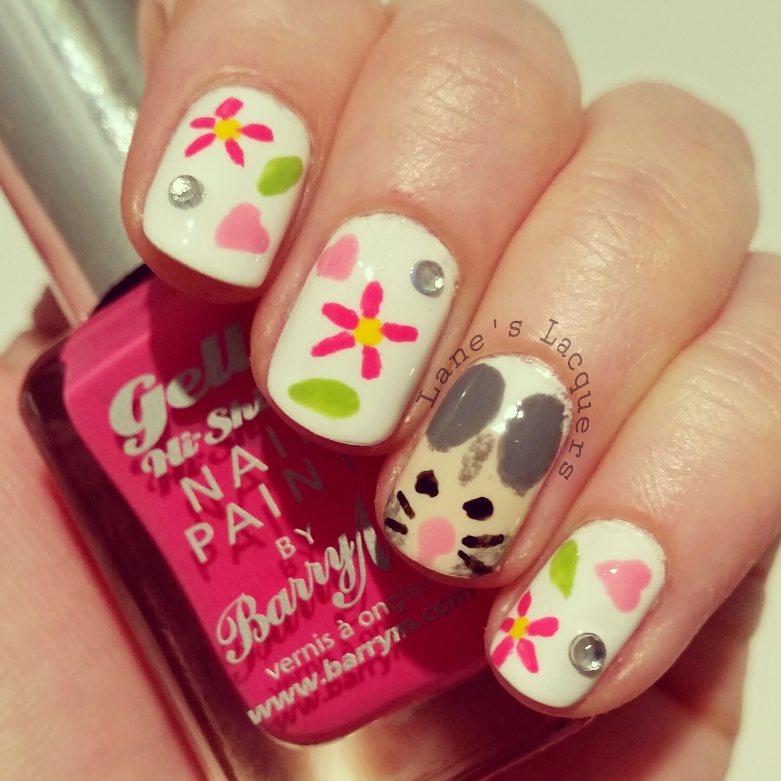 barry-m-hand-painted-happiness-hamster-love-flowers-sparkle-nail-art (2)