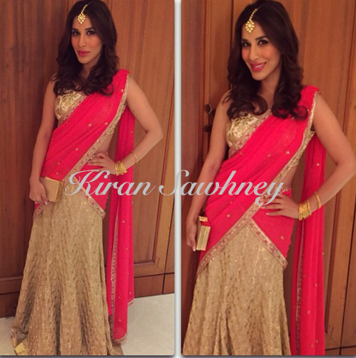 Sophie Choudry at Soha Ali Khan's wedding reception