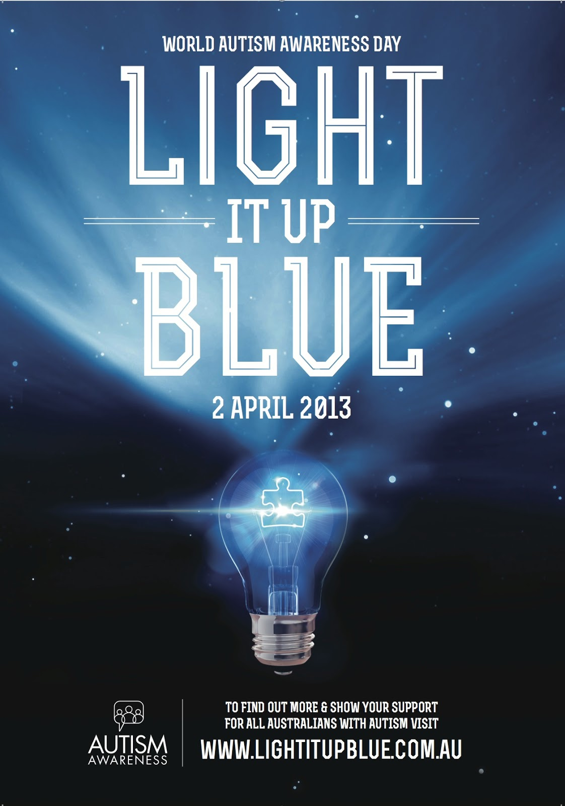 Drama Queen Nails Light It Up Blue For World Autism