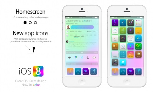 Apple iOS 8 Concept Art
