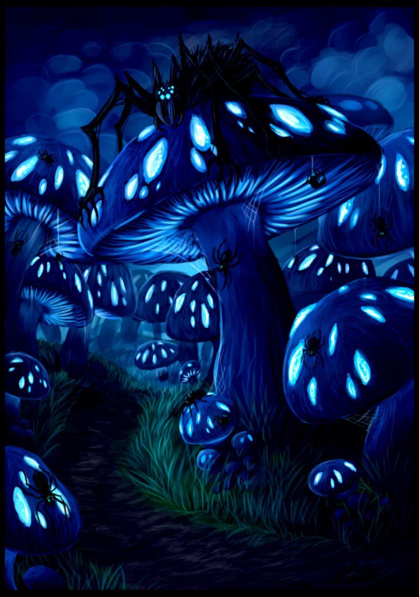 Mushroom forest by Niicchan on DeviantArt