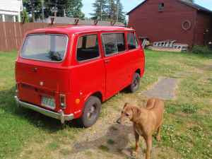 blown brown vanagon  1969 Subaru micro van