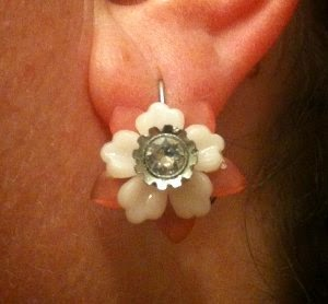 Lucite Flower Earrings by Liz Stewart