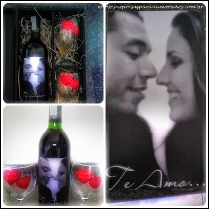 vinho com rotulo personalizado para namorado