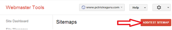 add a sitemap in google webmasters tools