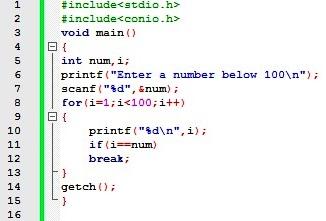 break statement in c c language