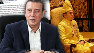 Rahim Tamby Chik didakwa memfitnah Raja Muda Selangor