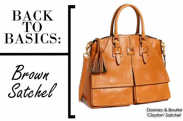 Back to Basics: Brown Satchel Dooney & Bourke Clayton Satchel