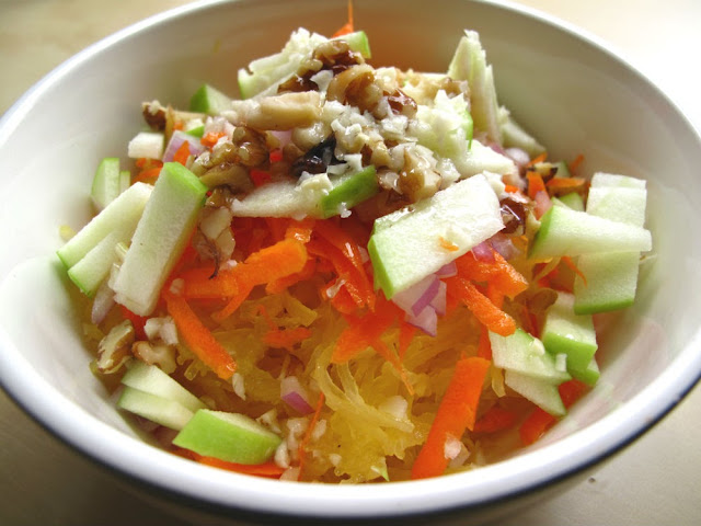 Autumn Spaghetti Squash, Green Apple, and Walnut Salad by Beth Hemmila