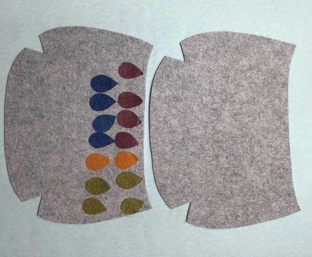 Felt Flowers Sequin Pouch Flower Felt Wallet Felt Coin Pouch Handmade Felt Wallet Christmas Gift Idea