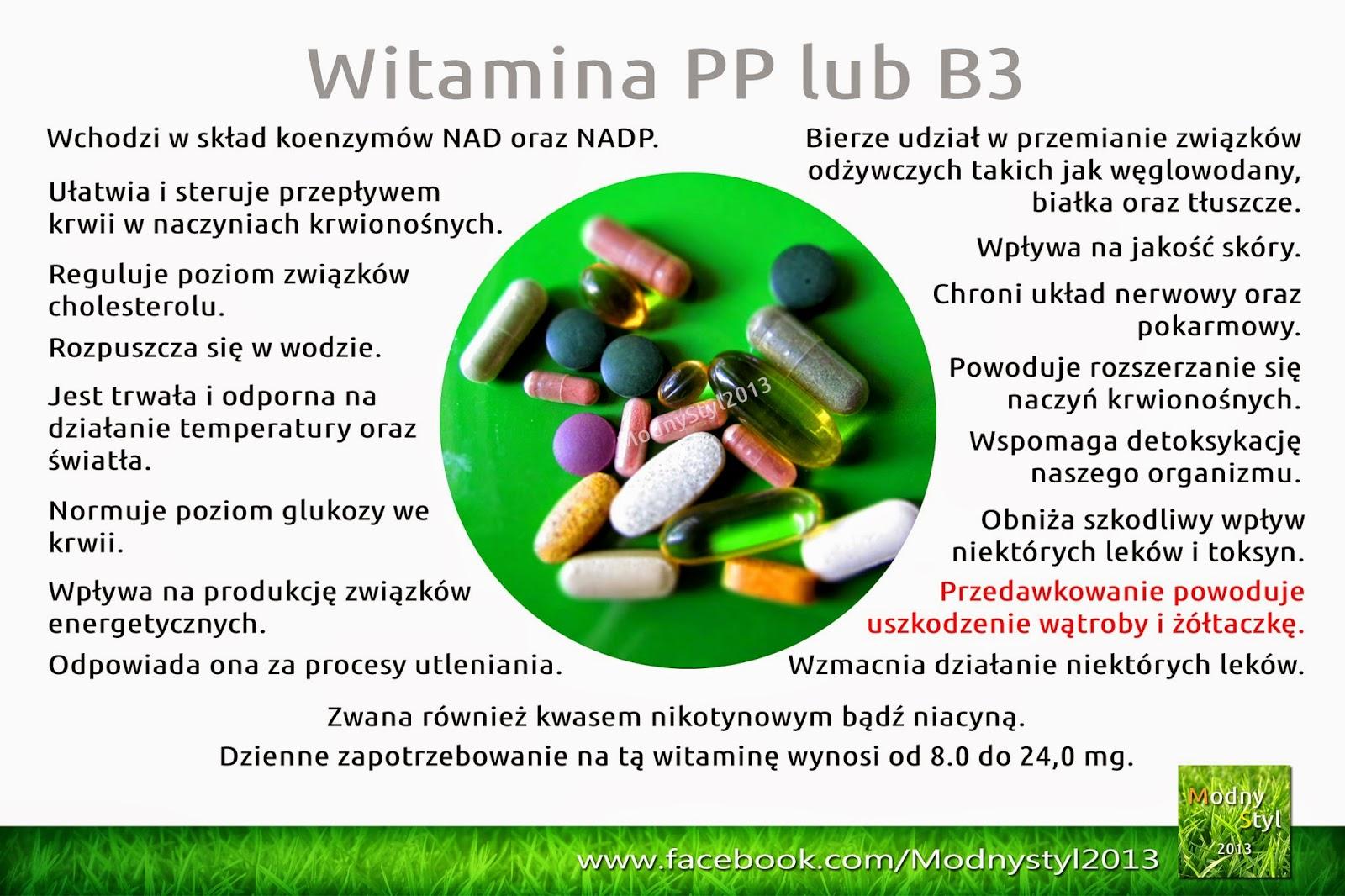 Witamina PP lub B3 zwana również niacyną