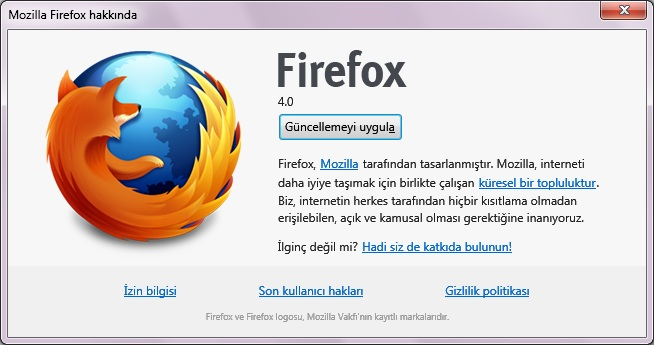 Firefox 4 güncelleme