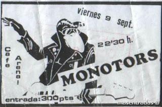 entrada de concierto de monotors