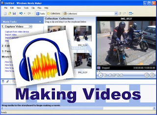 make videos with windows moviemaker and audacity