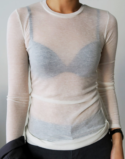Sheer Lightweight Slim Fit Top