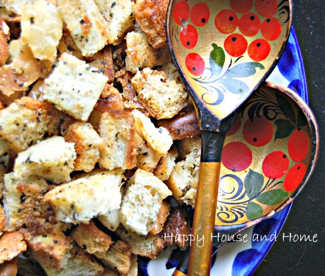 croutons, homemade croutons, crouton recipe