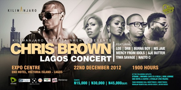 Chris Brown to Perform in a concert in Lagos, Nigeria