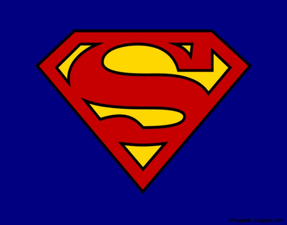 Superman Background White Logo