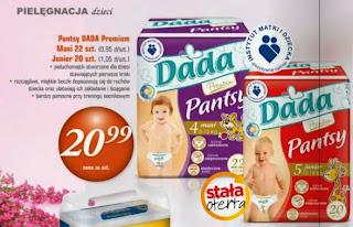 Pieluchomajtki Pantsy DADA Premium z Biedronki
