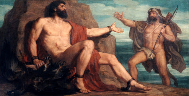 Picture of Prometheus and Hercules.