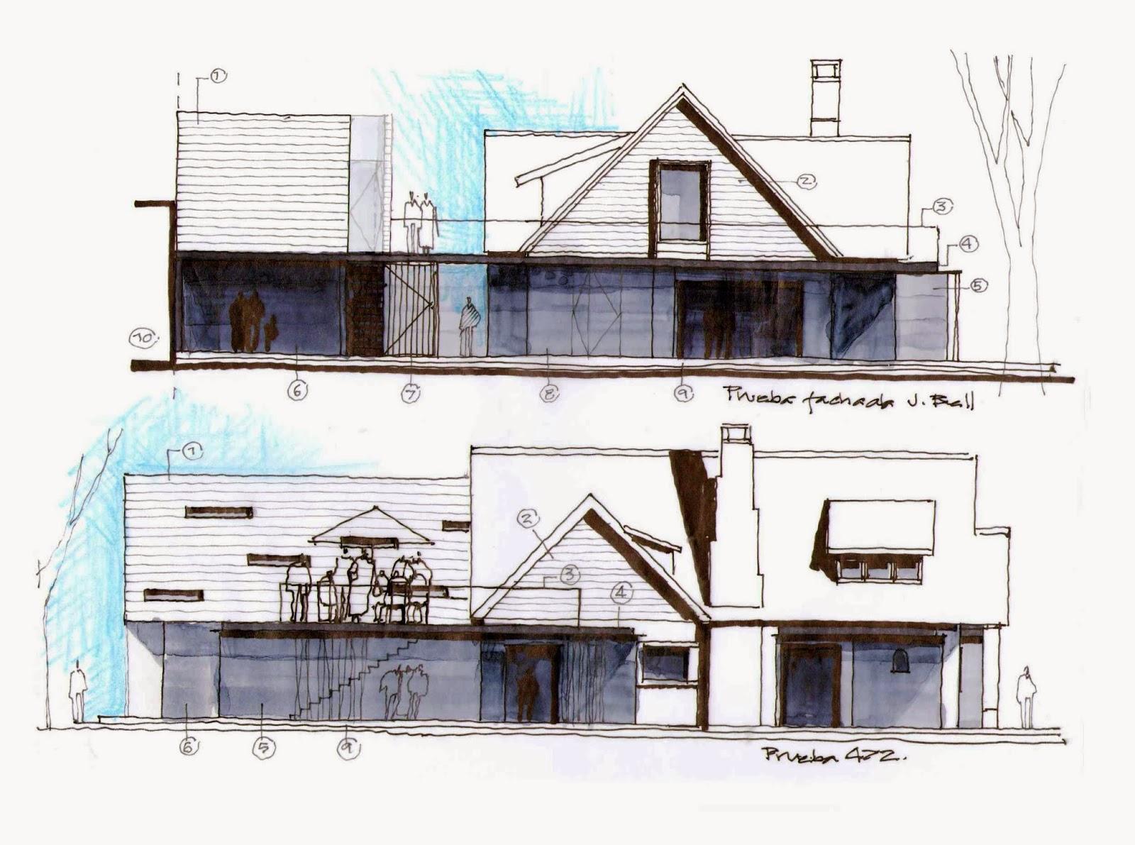 Dibujos de arquitecto architect drawings 130819 locales - Fachadas arquitectura ...