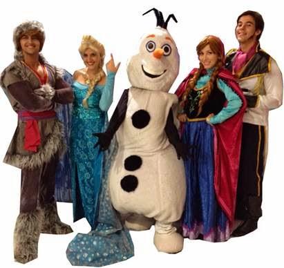 Espetáculo 'Frozen' no Santa Cruz Shopping