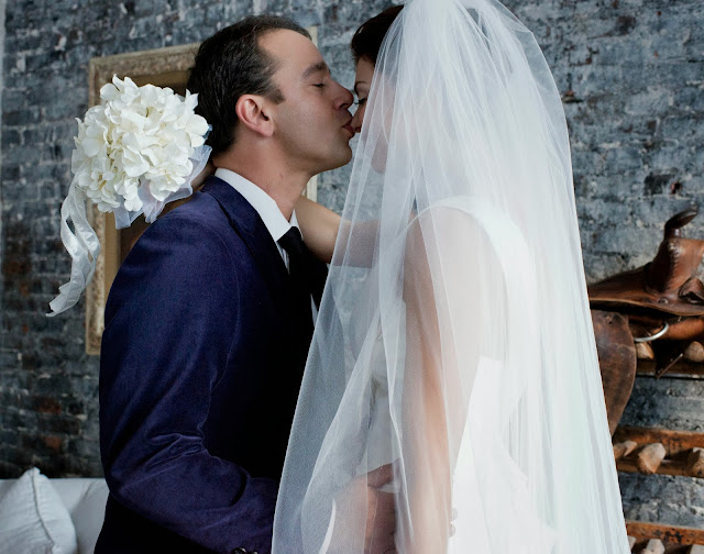 A Model Wedding, first look and a nose kiss