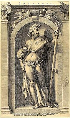 Saturnus - Polidoro Caldara da Caravaggio (16th century) - public domain, via Wikimedia Commons