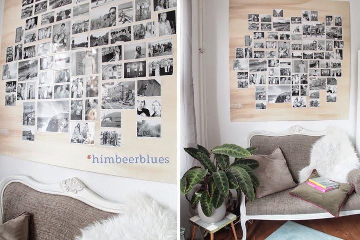 himbeerblues diy schwarz wei e bilderwand mit unseren. Black Bedroom Furniture Sets. Home Design Ideas