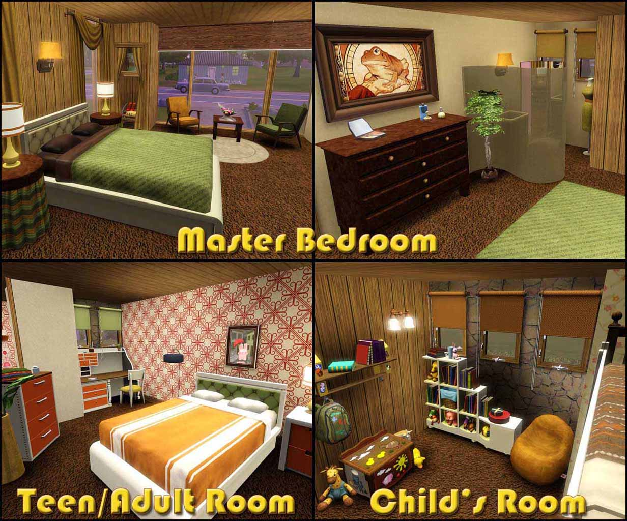 My sims 3 blog retro realty 39 70s modern family home by for Modern 70s house