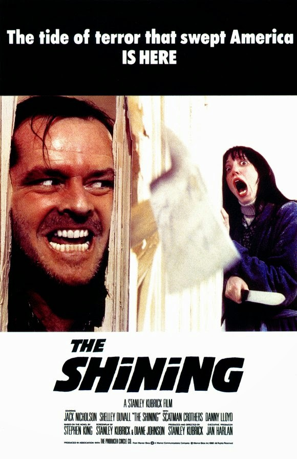 THE SHINING MOVIE POSTER ou O ILUMINADO um FILME de STANLEY KUBRICK com JACK NICHOLSON Romance de STEPHEN KING
