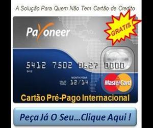 CARTÃO INTERNACIONAL GRÁTIS